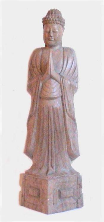 Buddhismus-und-Kunst Beispiel 1 Buddha aus Hibiskusholz aus Indonesien Buddhismus