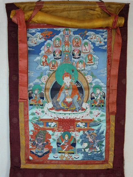 Buddhismus-und-Kunst Thanka im tibetischen Stil Buddhismus