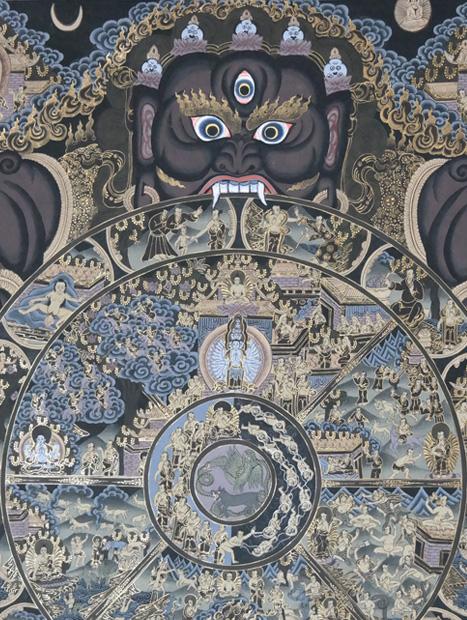 Buddhismus-und-Kunst Thanka im Newari-Stil Buddhismus