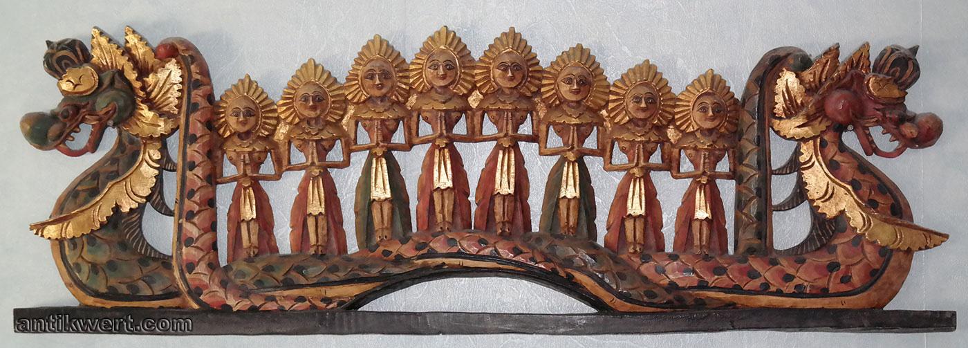 Holzschnitzerei-indonesisch-281 farbig gefasst und vergoldet