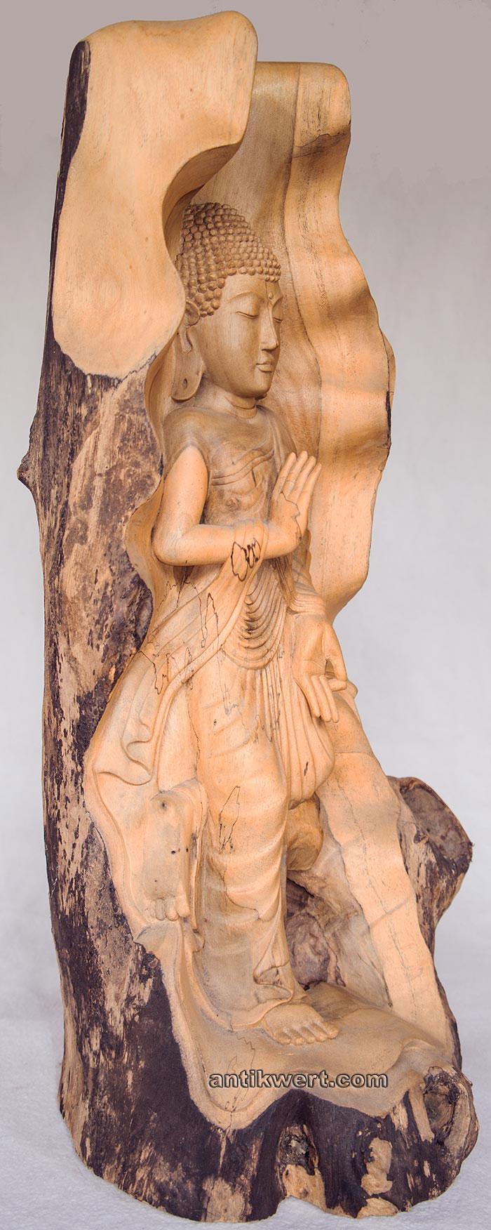 Buddha-Gautama-Holz-267 von der Seite 2