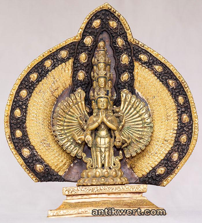 Avalokiteshvara-Sahasrabuja-vergoldet-224