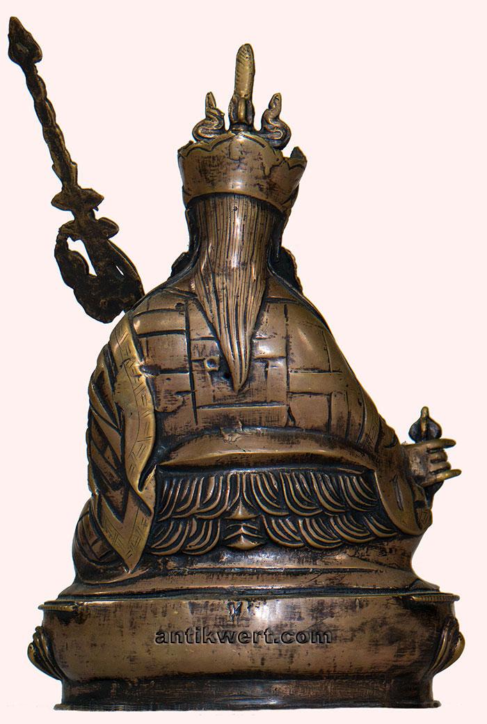 Padmasambhava-antique-copper-151 Rueckansicht