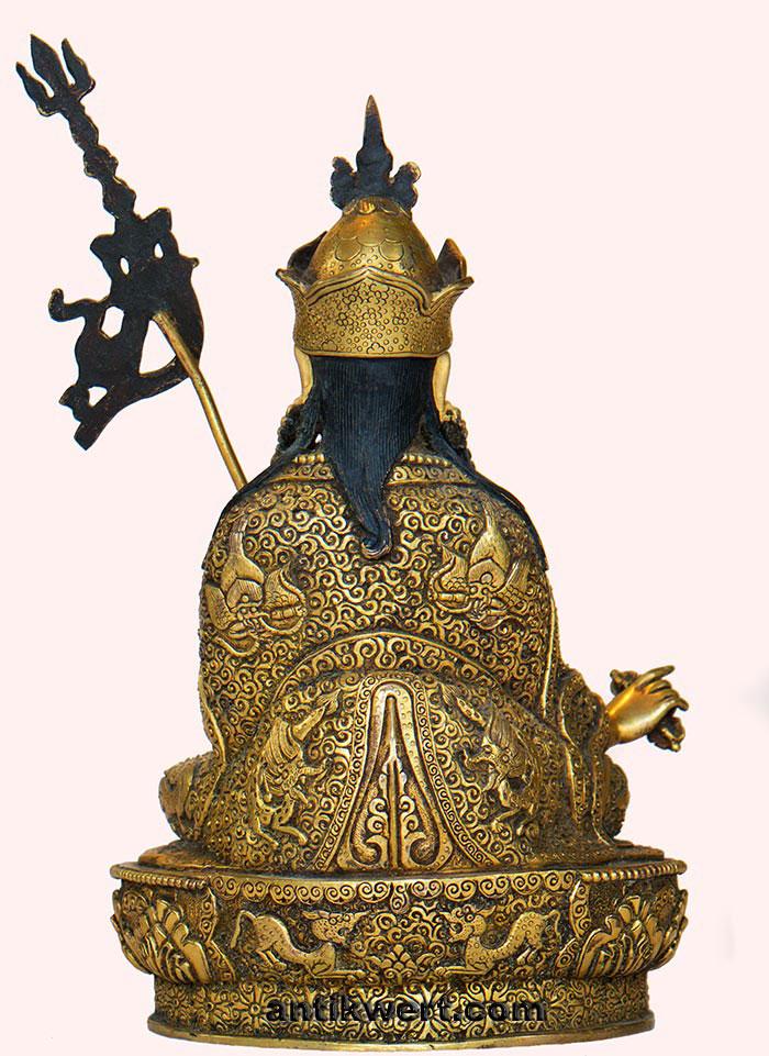 Padmasambhava-ziseliert-214 Rueckansicht