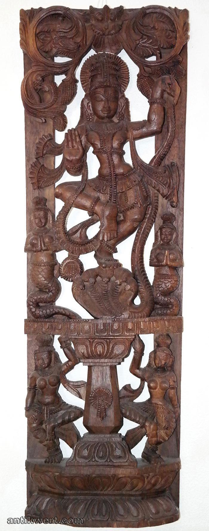 Shiva-Holz-273 geschnitzt