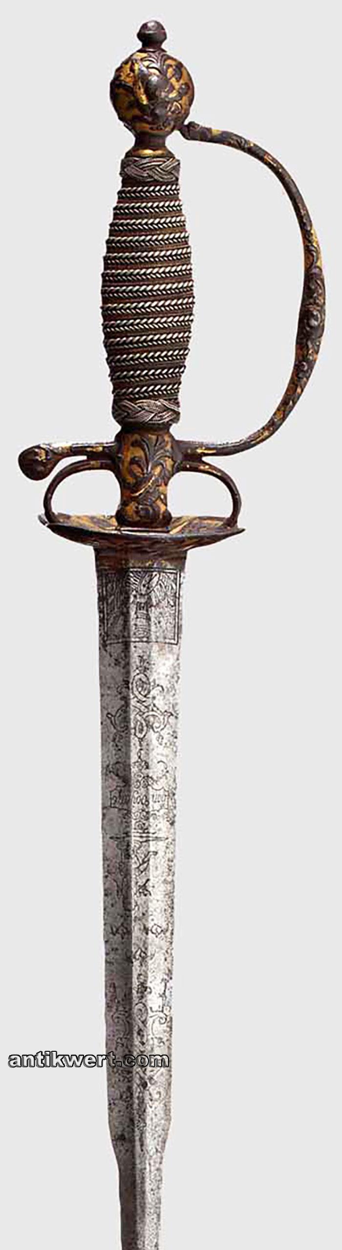 galadegen-vergoldet-751 Details vom Eisenschnitt