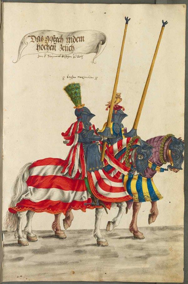 Darstellung aus einem alten Turnierbuch
