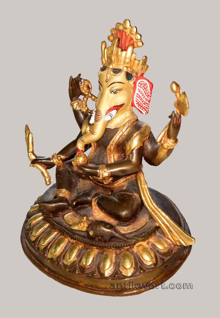 details der linken seite von Ganesha-216