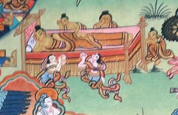 buddha stirbt und geht ins nirvana