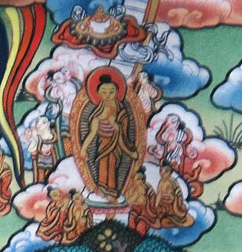 buddha wandert als lehrer umher