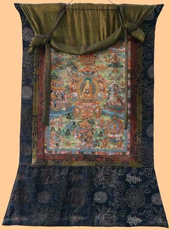 Life-of-Buddha-Thangka-303 verkleinerte abbildung