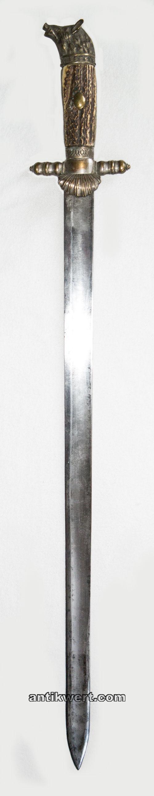 jagd-schwert-776 mit eber-kopf-knauf