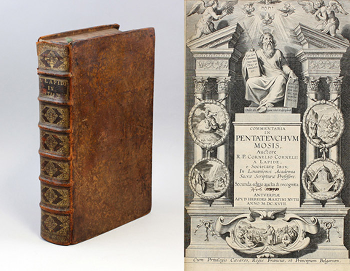 Lapide-van-den-Steen-874 das buch commentaria in pentateuchum mosis von 1618